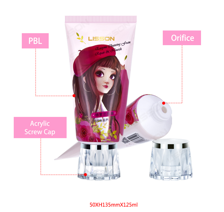 Plastic Cosmetic Tube for Body Lotion