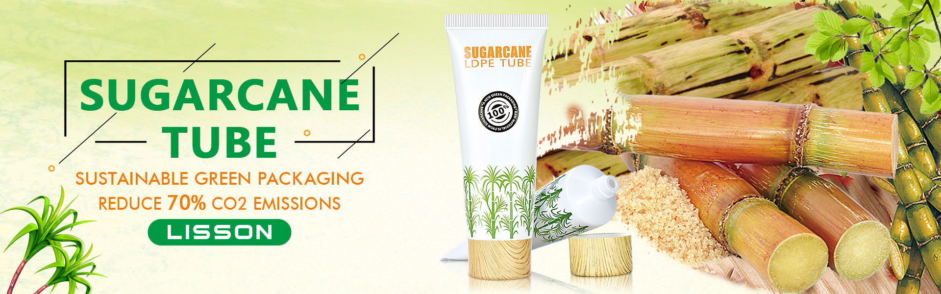Sustainable Packaging Sugarcane Tube